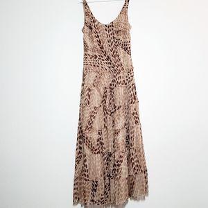 Jones Wear Dress Maxi Sleeveless Tan Beige